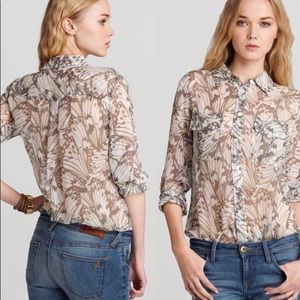 Equipment femme silk blouse butterfly print sz S